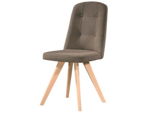 Καρέκλα Τραπεζαρίας MELODY - με ύφασμα και ξύλινα πόδια