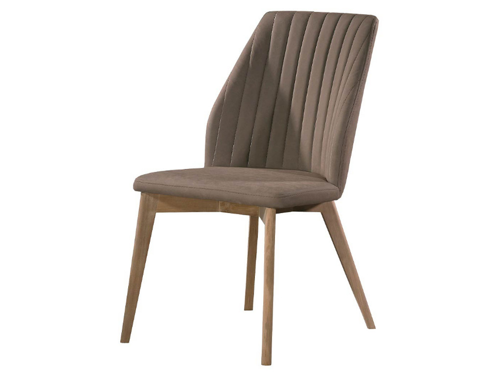 Μοντέρνα καρέκλα τραπεζαρίας - AURA με ξύλινα πόδια Retro σε διάφορα χρώματα και υφάσματα