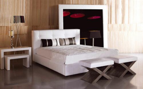 Μοντέρνο ντυμένο κρεβάτι - CAMELIA