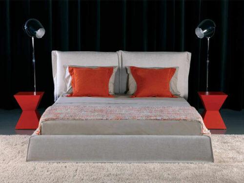 Μοντέρνο ντυμένο κρεβάτι - CITY