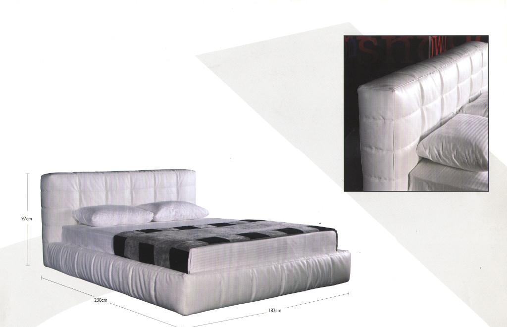 Ντυμένο κρεβάτι -IGLOO- λεπτομέρειες στο κεφαλάρι