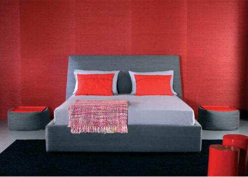 Μοντέρνο ντυμένο κρεβάτι - TIME