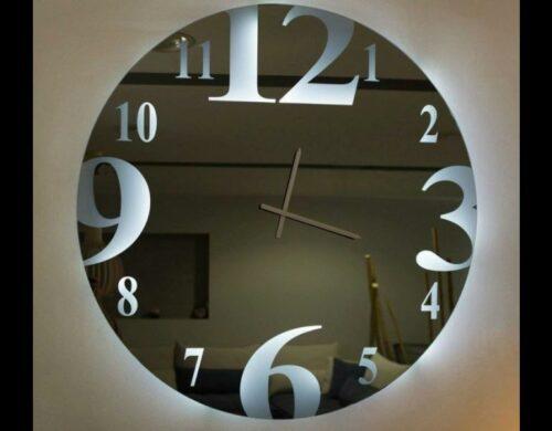 Καθρέπτης ρολόι με LED φωτισμό N1
