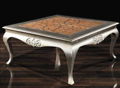Κλασικό τραπέζι σαλονιου - Φίλιππος με ασημί πατίνα