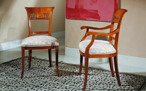 Κλασική Ιταλική καρέκλα τραπεζαρίας - ART - 3033- μέ ή χωρίς μπράτσα