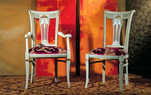 Κλασική Ιταλική καρέκλα τραπεζαρίας - ART - 3035 μέ ή χωρίς μπράτσα