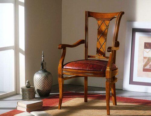 Κλασική καρέκλα τραπεζαρίας - ART - 3106 με μπράτσα