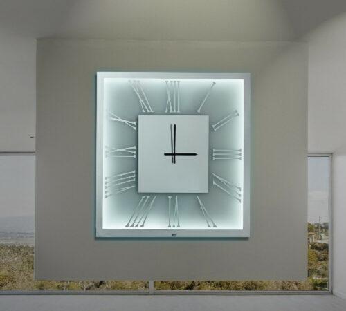 Καθρέπτης ρολόι με LED φωτισμό - Ν2