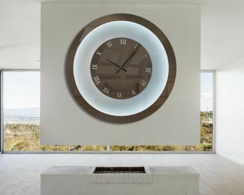 Καθρέπτης ρολόι με LED φωτισμό - Ν3