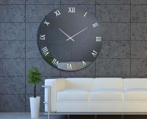 Καθρέπτης ρολόι με LED φωτισμό - Ν4