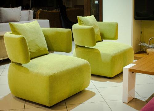 Μοντέρνα πολυθρόνα ZEN με πούπουλο και αφαιρούμενα καλύμματα