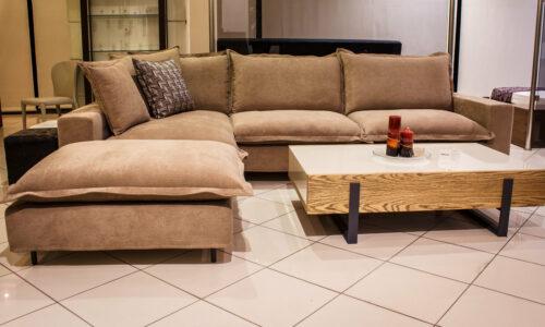 Μοντέρνος καναπές - γωνία - MIRROR - Πουπουλένιος