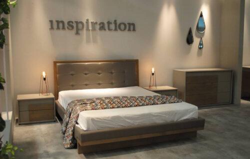 Μοντέρνα κρεβατοκάμαρα Art in House - Ναταλία - σε ξύλο δρύς ρουστίκ και τεχνόδερμα