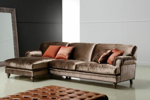 Κλασικό γωνιακό σαλόνι με ανάκλυνδρο - CHARLESTON