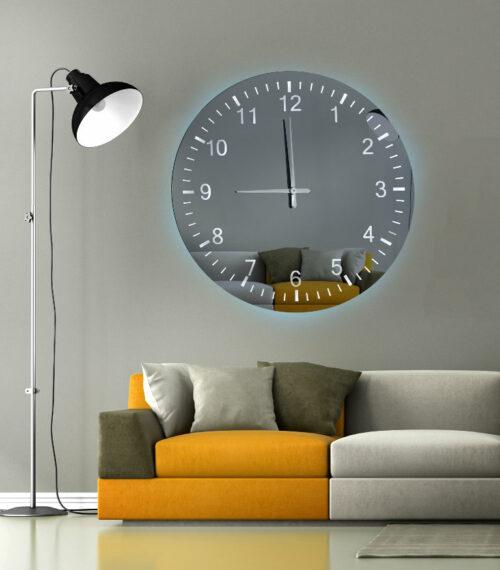 Καθρέπτης ρολόι - C120 led φωτιζόμενος