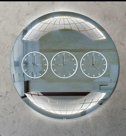 Καθρέπτης ρολόι - C140 led φωτιζόμενος