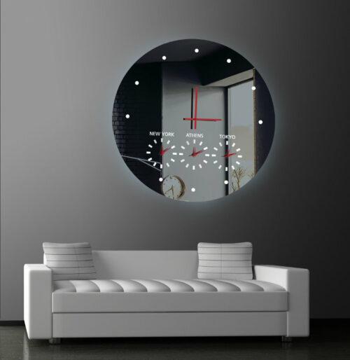 Καθρέπτης ρολόι - C200 led φωτιζόμενος