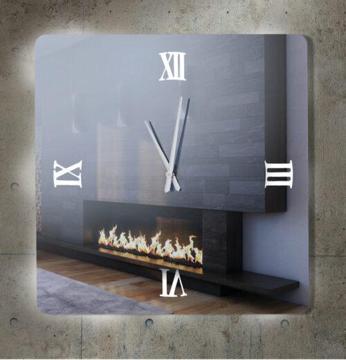 Καθρέπτης ρολόι - C290 led φωτιζόμενος