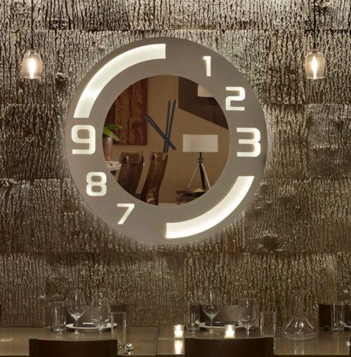 Καθρέπτης ρολόι - C40 led φωτιζόμενος