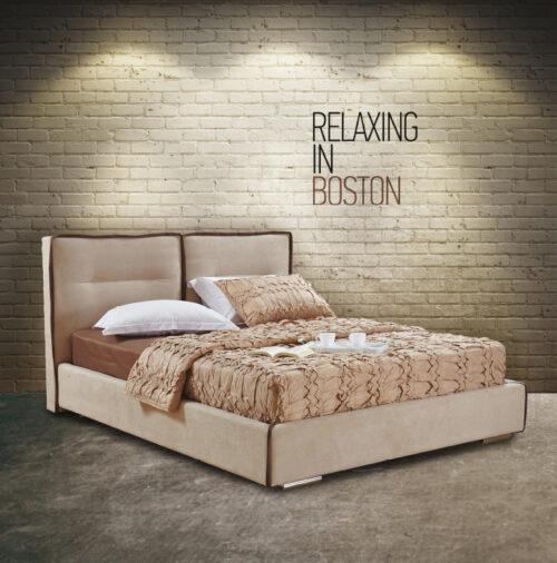 Ντυμένο κρεβάτι Boston