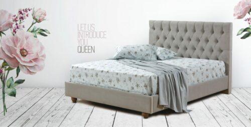 Ντυμένο κρεβάτι Queen