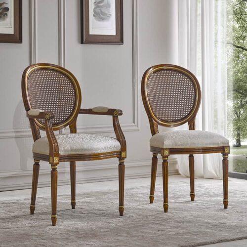 ιταλική κλασική καρέκλα τραπεζαρίας art 3407