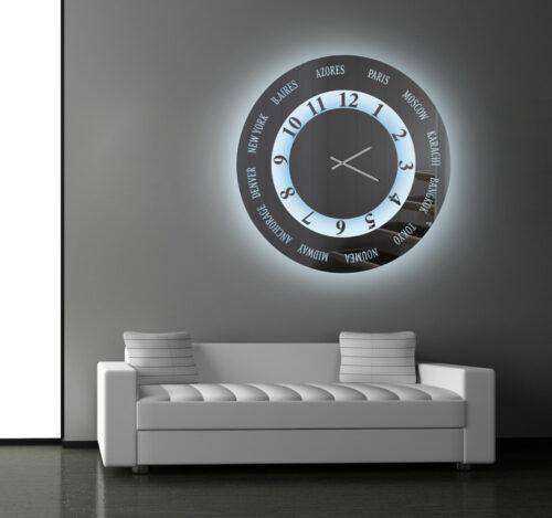 Καθρέπτης ρολόϊ με φωτισμό led- C340