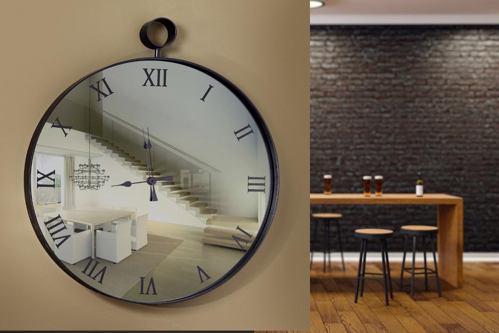 Καθρέπτης ρολόϊ με φωτισμό led- C460